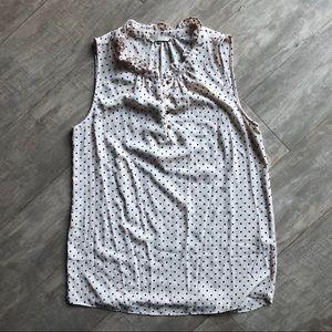 41 Hawthorne ruffle trim sleeveless top